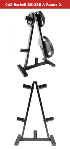CAP Barbell RK-2BB A Frame Olympic Plate Rack, Black. Keep your weight plates in order and off the floor with the CAP Barbell 2-inch Olympic plate rack. This rack features a durable steel construction and accommodates 2-inch plates. It also features a black powder-coat finish and triangular design. Ideal for home use to keep your workout space organized and your plates readily available. Steel construction offers outstanding durability. Keep floor protected and organize weights…