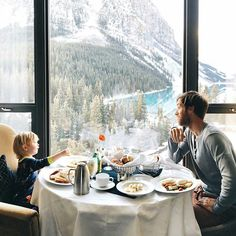 Family travel to the mountains