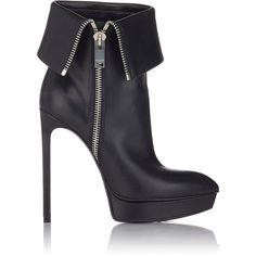 Saint Laurent Janis Side-Zip Ankle Boots (14.692.365 IDR) ❤ liked on Polyvore