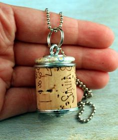 Wine Cork Necklace  Upcycled Jewelry by Uncorked  by uncorked, $14.00