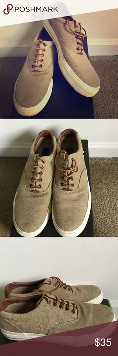 Ralph Lauren Polo 'Vaughn' Sneakers Men's polo sneakers, barely worn, kept clean, no blemishes or damage. Upper portion of shoes are Suede! Polo by Ralph Lauren Shoes Sneakers