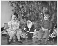Vintage Christmas Photo of Little Boy and by SunflowerCollections