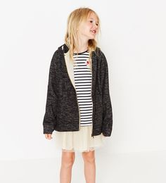 Image 1 of STRIPED TOP WITH PATCH from Zara