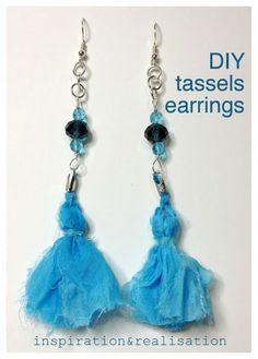 inspiration and realisation: DIY fashion blog: DIY Isabel Marant tassels earrings