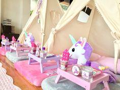 Unicorn sleepover  #pijamadas #pijamaparty #sleepover #unicornparty #fiestasinfantiles #fiestastematicas #teepees #unicornios