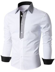 Men's Shirt Pattern Free i like the different colour plackett and i also like the cuffs