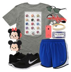 """""""Philippians 4:13 I can do all things through Him who gives me strength."""" by chevron-elephants ❤ liked on Polyvore featuring мода, NIKE, Kate Spade, Blue Nile и Disney"""