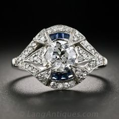 1.09 Carat Diamond Art Deco Vintage Engagement Ring