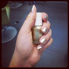 #GoodasGold #gold #color #manicure from #essie