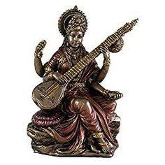 "3"" Saraswati Hindu Goddess of Knowledge, Music, Arts, and Wisdom - Beautiful!"