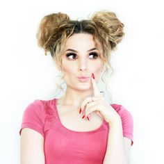 Space buns  double tap for tutorial