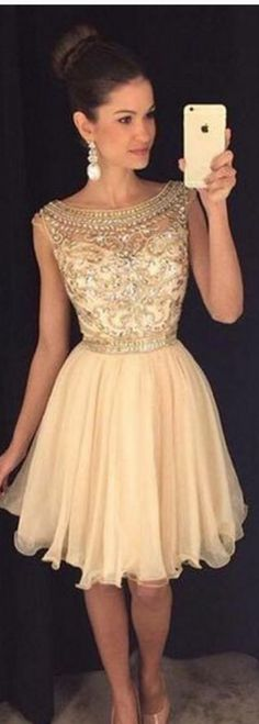 Short Homecoming Dresses, Beading H More