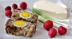 Drob de miel Romanian Food, Easter Recipes, Meatloaf, Bon Appetit, Banana Bread, Eggs, Breakfast, Desserts, Honey
