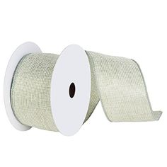 "2 Sage Green and Gold Mesh Solid Wired Christmas Craft Ribbon 2.5"" x 10 Yards ** Check out this great product."