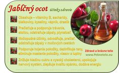 "Jablečný ocet - pravda a lež o tomto ""léku"" Raw Food Recipes, Healthy Recipes, Beauty Detox, Dieta Detox, Food Art, Natural Health, Diabetes, Food And Drink, Health Fitness"
