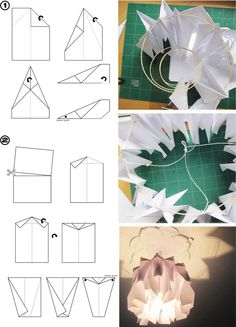daily perfect moment: Weekend DIY: paper lamp/ Papierlampe