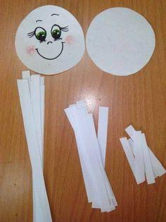 Мастерим снежинки-смешинки из бумажных ленточек - зимние поделки -2
