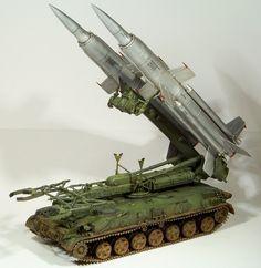 """Soviet SA-4 """"Ganef""""/2K11 """"Krug"""" preparing for launch."""