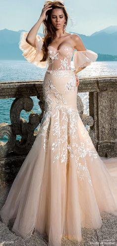Mistrelli 2018 Wedding Dress.  Want to make a sensation?  Clip on sleeves. D.Martin