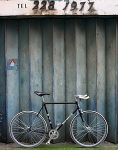 EDDY MERCKX FIXED GEAR BICYCLE - BLACK