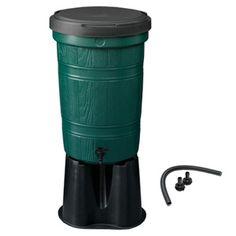 Cloudburst Water Butt Kit with Link Kit, 95 litre, Green