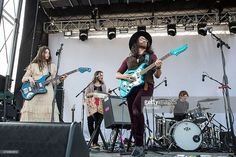 Musician/model Charlotte Kemp Muhl (L) and Sean Lennon of The Ghost of a Saber Tooth Tiger perform onstage during Day 3 of Levitation Festival at Carson Creek Ranch on May 10, 2015 in Austin, Texas.