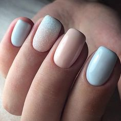 What Christmas manicure to choose for a festive mood - My Nails Pastel Nails, Blue Nails, Stylish Nails, Trendy Nails, Hair And Nails, My Nails, Nail Manicure, Nail Polish, Nail Color Combinations