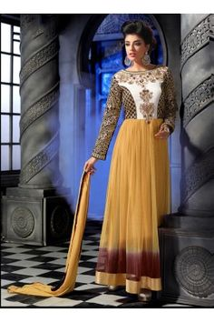 Hamim Designer Yellow colour  heavy look anarkali suit-4001