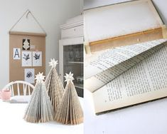 Christmas Trees of Old Books Old Books, Diy, Furniture, Christmas Trees, Home Decor, Design, Ideas, Weihnachten, Art