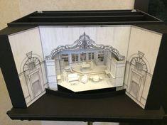 A Song at Twilight set model. Set design by Tom Buderwitz Design Set, Stage Set Design, Set Design Theatre, Prop Design, Design Model, Scenography Theatre, Theatrical Scenery, Theater, Theatre Stage