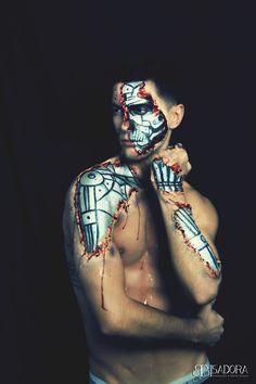 Terminator/cyborg makeup