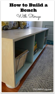 How to Build a Bench with Storage - Thrift Diving Blog
