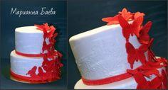 Свадебный торт с бабочками