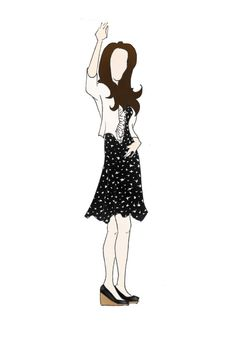 "Duchess of Cambridge Kate Middleton Fashion High Street Print 8.5""x11"" Issa London Bird Print Dress"