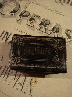 GOTHIC ANTIQUE PILL Box Victorian Papier by GothicRoseAntiques, $125.00