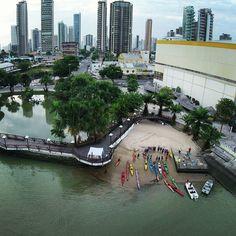 Ver-o-rio, no bairro do Umarizal - Belém do Pará, Brasil.