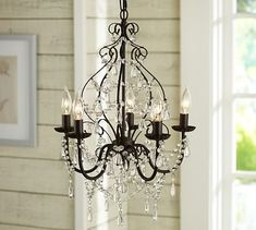 "Paige Crystal Chandelier #potterybarn PAIGE CRYSTAL CHANDELIER online only $249 17"" diameter, 21"" high"