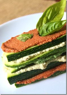 Raw Lasagna -- I wonder if I could get the males in the household to even this, but I want to try it anyway
