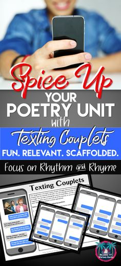 Need a fun and relevant way to study rhythm and rhyme? Try this rhyming couplets text message activity from Reading and Writing Haven. Perfect for middle and high school English Language Arts classes and poetry units. #highschoolenglish #poetrylesson