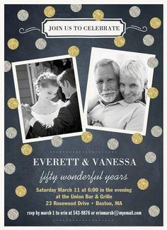 Wedding Anniversary Invitations - Select printing options and begin customizing your card for design 32660