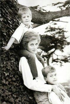 Princess Diana and Prince William and Prince Harry