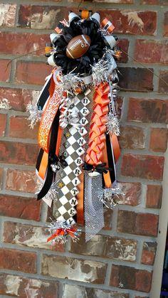 Boys Garter Homecoming Mum Orange Black And White Designed By Crafty Bug