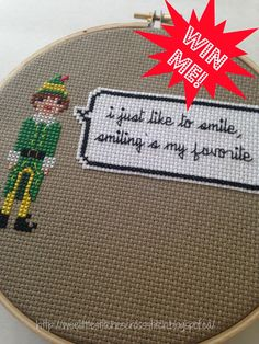 weelittlestitches: Free Buddy the Elf Pixel Person Patterns + a Giveaway + a Wee Tutorial
