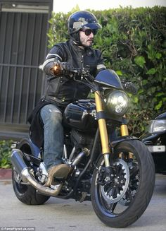 Keanu Reeves takes a cruise on one of his KRGT-1 bikes