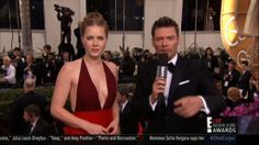 Amy Adams cleavage on the Golden Globe Awards red carpet.