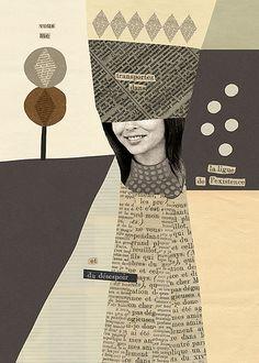 Ilustración y collage: Mathilde Aubier cut and paste illustration Love Collage, Mixed Media Collage, Collage Art, Collages, Graphic Design Illustration, Illustration Art, Film Inspiration, Altered Art, Design Art