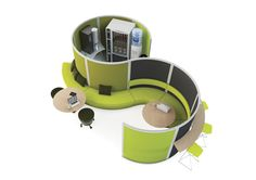 Cove... combines vertical surfaces with soft seating to create a natural balance of acoustic control. Cove is perfect for when you need to change or expand systems – simply break down and re-configure, no need to buy new. With configurations allow for collaborating and resource working it is the ideal flexible solution for open plan spaces or study areas. http://www.orangebox.com/product_range/screen_systems/screens_cove1
