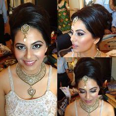 Indian ceremony hair and makeup look, bridal makeup, bridal hair