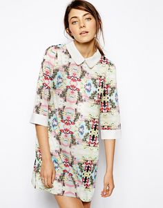 Sister Jane Printed Shift Dress with Collar