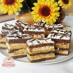 Keto Recipes, Cake Recipes, Dessert Recipes, Cooking Recipes, Hungarian Desserts, Hungarian Recipes, Oreo Cupcakes, Cake Cookies, Cake Bars